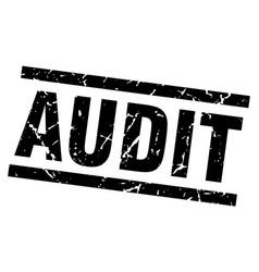 Square grunge black audit stamp vector