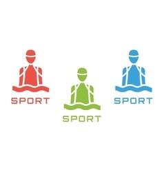 Swim sport logo icon template pool swimmer man vector