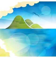 Tropical islands dreams vector image