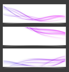 womanly swoosh lines abstract flyers set vector image