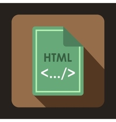 File html icon flat style vector