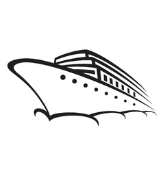 Cruise ship - Ocean liner vector image