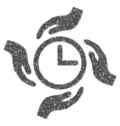 Time care grainy texture icon vector