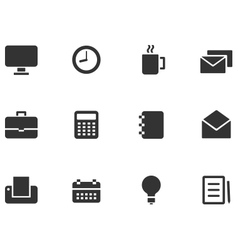 12 Web Icons vector image