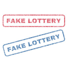 Fake lottery textile stamps vector