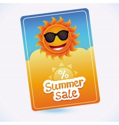 summer sale coupon - sun and discount vector image