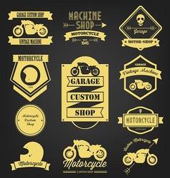 Motorcycle premium vintage label vector image