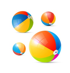 Colorful beach balls vector