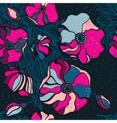 Abstract Flowers background Seamless pattern vector image