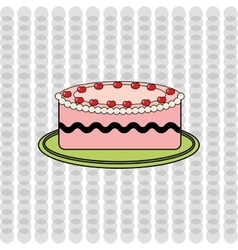 Delicious pastry shop design vector