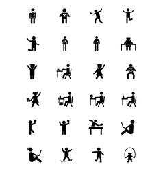 Human icons 16 vector