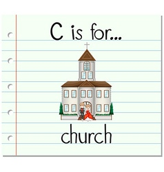 Alphabet c is for church vector