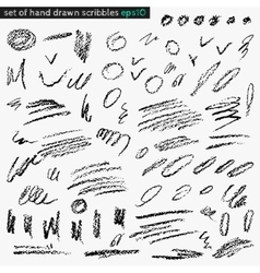 Set of hand drawn scribbles vector
