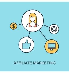Affiliate marketing vector