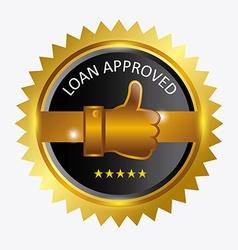 Approved label design vector