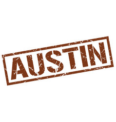 Austin brown square stamp vector