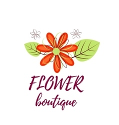Bright logo for a flower shop bouquet wedding vector