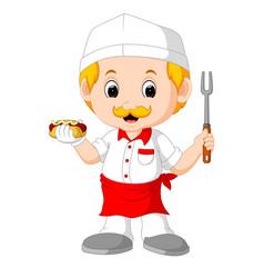 Cartoon cute funny chef vector