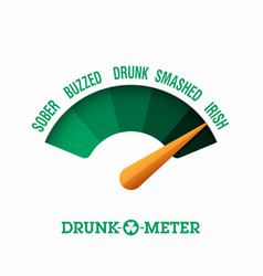 Drunk-o-meter 17 march saint patricks day vector