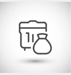 Garbage line icon vector