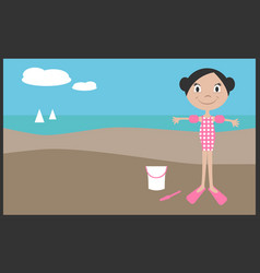 girl on vacation in summer vector image vector image