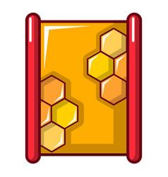 Honeycombs icon cartoon style vector