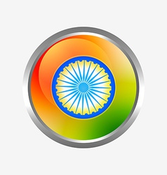 Indian flag label vector
