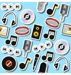 Karaoke flat collage vector