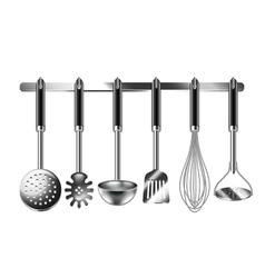 Kitchen utensils isolated on white vector image