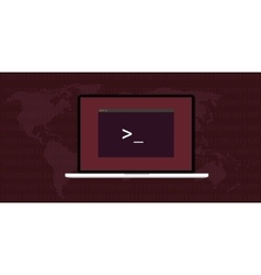 Linux interface screen vector