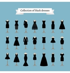 Little black dresses vector image vector image