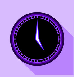 Modern clock icon flat style vector