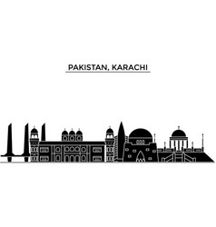 pakistan karachi architecture city skyline vector image