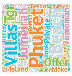 Phuket beach villas jumeirah phuket phuket villas vector