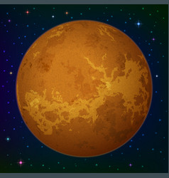 planet venus in space vector image vector image
