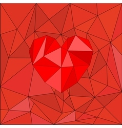 Red heart on red wrapping surface background vector