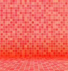 red swimming pool ceramic vector image vector image