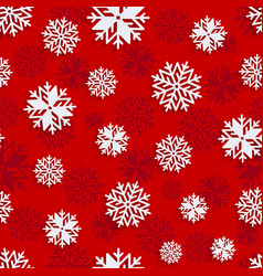 seamless snowflakes background for winter vector image