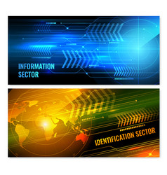 search radar horizontal banners vector image