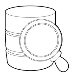 Searching database icon outline style vector