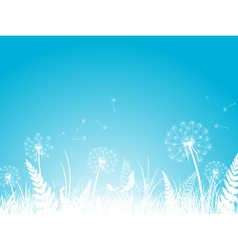 Silhouettes of Dandelion vector image vector image