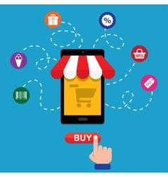 smartphone shop vector image vector image