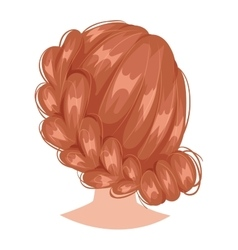 Woman hairstyle back view vector