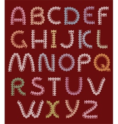 letters of lace alphabet vector image