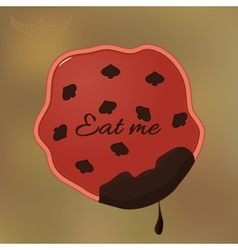 Alice eat me cookie vector