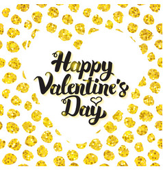 Happy valentines day hand drawn card vector
