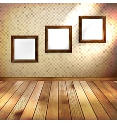 Retro room with three frames eps 10 vector
