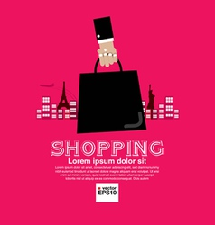 Worldwide shopping tourist vector