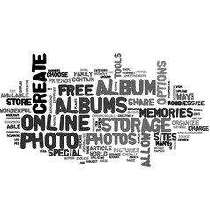 Album storage store and protect your special vector