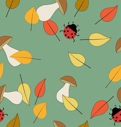 Pattern seamless autumn vector